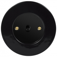 Přepínač křížový páčkový, řaz. 7, kompletní, RETRO KERAMIKA černá