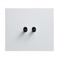 Přepínač střídavý páčkový, řaz. 6+6, kompletní, VECTIS HLINÍK bílý