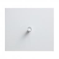 Tlačítko (ovladač), řazení 1/0, kompletní, VECTIS HLINÍK bílý