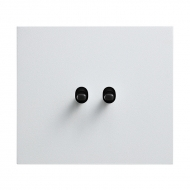Ovladač zapínací dvojitý 1/0+1/0, tlačítko, kompletní, VECTIS HLINÍK bílý