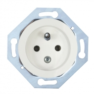 Single outlet with cover (without safety shutters), RETRO
