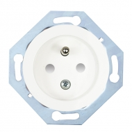 Single outlet with cover (with safety shutters), RETRO