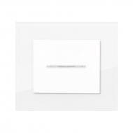 Tlačítko prosvětlené, řazení 1/0, kompletní, DECENTE PLEXISKLO